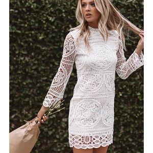 Final Impression White Lace Dress